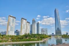 Songdo, Korea - September 07, 2015: Songdo IBD Royalty Free Stock Photography