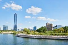 Songdo, Korea - September 07, 2015: Songdo IBD. Songdo, Korea - September 07, 2015: Songdo International Business District (Songdo IBD) is a new smart city built Royalty Free Stock Photos