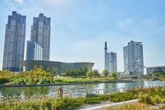 Songdo, Korea - September 07, 2015: Songdo IBD Stock Images