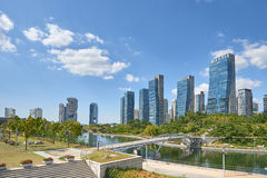 Songdo, Korea - September 07, 2015: Songdo IBD Royalty Free Stock Image
