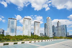 Songdo, Korea - September 07, 2015: Songdo IBD Royalty Free Stock Images