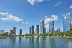 Songdo, Korea - September 07, 2015: Songdo IBD Stock Photography