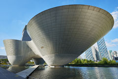 Songdo Korea - September 07, 2015: Songdo Tri-bunke Arkivfoto