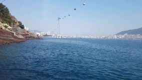 Songdo Marine Cable Car an AmNam-Park stock video footage