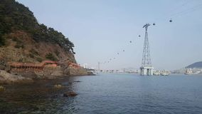 Songdo Marine Cable Car an AmNam-Park stock video