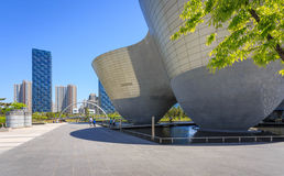 Songdo,South Korea - May 05, 2015: Songdo Central Park in Songdo. District, Incheon South Korea Royalty Free Stock Photos