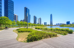 Songdo,South Korea - May 05, 2015: Songdo Central Park in Songdo. District, Incheon South Korea Royalty Free Stock Image