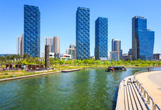 Songdo,South Korea - May 05, 2015: Songdo Central Park in Songdo. District, Incheon South Korea Royalty Free Stock Photography