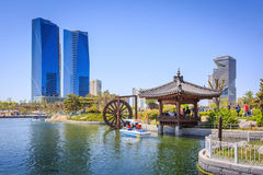Songdo,South Korea - May 05, 2015: Songdo Central Park in Songdo. International Business District, Incheon South Korea Royalty Free Stock Photos
