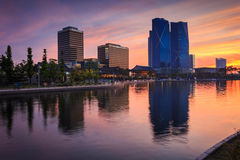 Songdo,South Korea - May 17, 2015: Songdo Central Park in Songdo. International Business District, Incheon South Korea royalty free stock photos