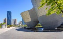Songdo, Zuid-Korea - Mei 05, 2015: Songdocentral park in Songdo Royalty-vrije Stock Foto's