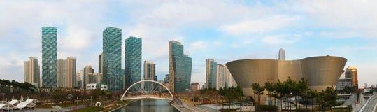 Songdocentral park in Incheon, Zuid-Korea royalty-vrije stock afbeeldingen