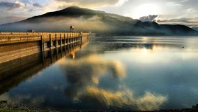 Songhua Lake in the morning. Eastphoto, tukuchina, Songhua Lake in the morning stock photography