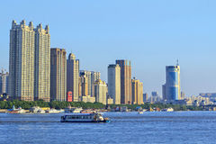 Songhua River in Harbin, Heilongjiang Province Bund Stock Images