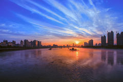 Songhua River in Jilin Architectural Royalty Free Stock Photography