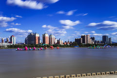 Songhua River in Jilin city building. Eastphoto, tukuchina, Songhua River in Jilin city building, City, scenery Royalty Free Stock Photography