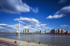 Songhua River in Jilin city building. Eastphoto, tukuchina, Songhua River in Jilin city building, City, scenery stock photo