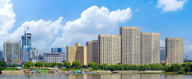 Songhua River in Jilin city building. Eastphoto, tukuchina, Songhua River in Jilin city building, City, scenery Royalty Free Stock Images