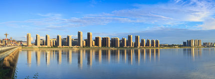 Songhua River in Jilin city building Stock Photos