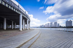 Songhua River in Jilin city building Royalty Free Stock Photography
