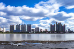 Songhua River in Jilin city building. Eastphoto, tukuchina, Songhua River in Jilin city building, City, scenery Royalty Free Stock Photo