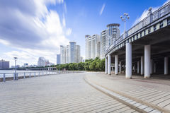 Songhua River in Jilin city building. City, scenery Royalty Free Stock Photo