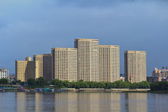 Songhua River in Jilin city building Stock Photo