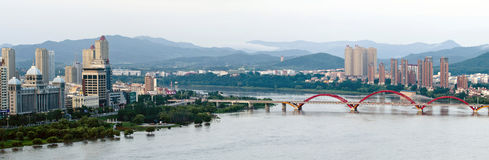 Songhua River in Jilin City, Jilin Province scenery. Songhua River in Jilin City, Jilin Province scenery, City, scenery Stock Photography