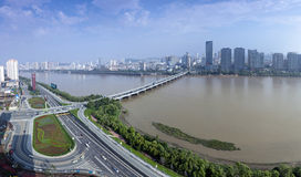 Songhua River in Jilin City, Jilin Province scenery. City, scenery Stock Images