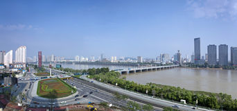 Songhua River in Jilin City, Jilin Province scenery. City, scenery royalty free stock image