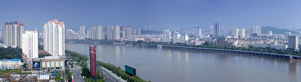 Songhua River in Jilin City, Jilin Province scenery Royalty Free Stock Photography