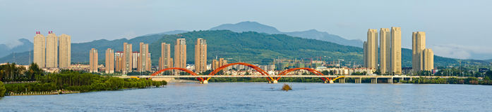 Songhua River in Jilin City, Jilin Province scenery. Eastphoto, tukuchina, Songhua River in Jilin City, Jilin Province scenery, City, scenery Royalty Free Stock Photography