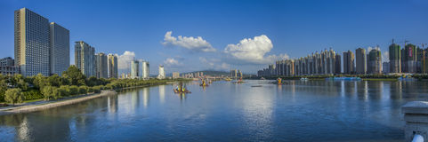 Songhua River scenery Royalty Free Stock Photo