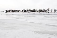 Songhua River in snow Royalty Free Stock Images