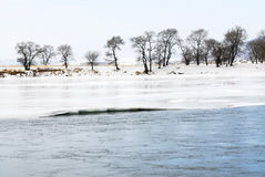 Songhua River in snow. Songhua River in northeast China winter scenery Stock Photography