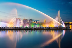 Songhua River Summer Music Fountain. Eastphoto, tukuchina, Songhua River Summer Music Fountain Stock Photography