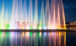 Songhua River Summer Music Fountain. Eastphoto, tukuchina, Songhua River Summer Music Fountain Stock Photos
