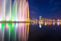 Songhua River Summer Music Fountain. Eastphoto, tukuchina, Songhua River Summer Music Fountain Royalty Free Stock Photography