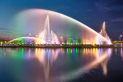 Songhua River Summer Music Fountain. Eastphoto, tukuchina, Songhua River Summer Music Fountain royalty free stock images