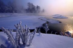 Songhua River in winter Royalty Free Stock Photo