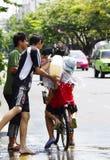 Songkarn siamesisches neues Jahr - Wasserfestival Lizenzfreies Stockbild