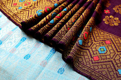 Songket Fabric. Is an hand weaven fabrics, usually worn by malays during wedding ceremonies Royalty Free Stock Photography