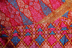 Songket Fabric. Hand Weaven Songket Design from Malaysia stock photo
