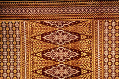 Songket Fabric. Hand Weaven Songket Design Malaysia Stock Photography