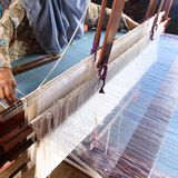 Songket textiles. Songket is a fabric that belongs to the brocade family of textiles of the Malay world today Indonesia, Malaysia, Brunei, Singapore and Southern Stock Image