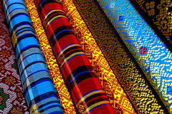 Songket Fabrics Stock Photo