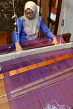 Songket making demonstration Stock Photo