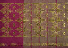 Songket Palembang. Detail of a Songket from Palembang Stock Image