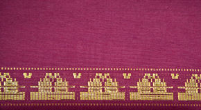 Songket Palembang. Detail of a Songket from Palembang Stock Photo