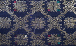 Songket Palembang. Detail of a Songket from Palembang Royalty Free Stock Images